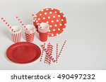 Red Disposable Tableware For...