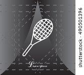 tennis racket icon | Shutterstock .eps vector #490501396