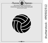 web icon. volleyball | Shutterstock .eps vector #490502512