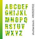 latin alphabet colored  bright. ... | Shutterstock .eps vector #490505932