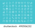 set vector line icons drinks ... | Shutterstock .eps vector #490506232