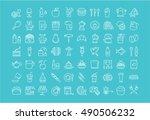 set vector line icons drinks ... | Shutterstock .eps vector #490506232
