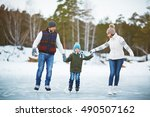Family On Ice Rink