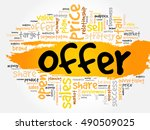 offer word cloud collage ...   Shutterstock .eps vector #490509025
