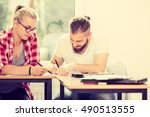 education  high school concept. ...   Shutterstock . vector #490513555