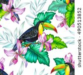 amazing seamless pattern with... | Shutterstock . vector #490513852