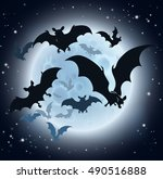 a halloween background... | Shutterstock .eps vector #490516888