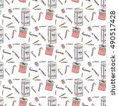christmass celebrity pattern... | Shutterstock .eps vector #490517428