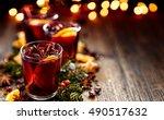 christmas mulled wine | Shutterstock . vector #490517632