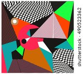 abstract modern triangles... | Shutterstock .eps vector #490523362