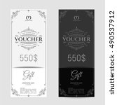 retro gift voucher and a place... | Shutterstock .eps vector #490537912