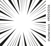 comic speed burst. flash... | Shutterstock .eps vector #490543036