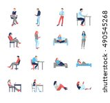 people  male  female  in...   Shutterstock . vector #490545268