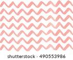 watercolor light pink hand... | Shutterstock . vector #490553986