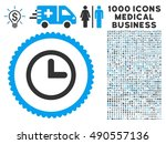 clock icon with 1000 medical...