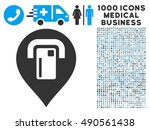 atm map pointer icon with 1000... | Shutterstock .eps vector #490561438