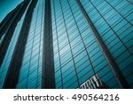modern architecture close up | Shutterstock . vector #490564216