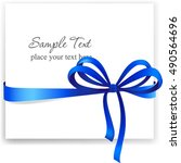 greeting card with a blue... | Shutterstock .eps vector #490564696