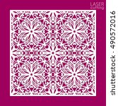 die cut ornamental panel with... | Shutterstock .eps vector #490572016