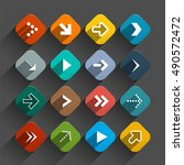 arrows set   app icons  ... | Shutterstock . vector #490572472