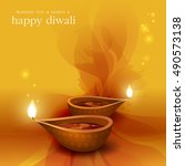 diwali festival background. | Shutterstock .eps vector #490573138