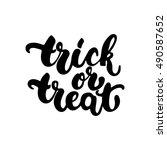 trick or treat   halloween... | Shutterstock .eps vector #490587652