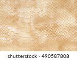 Natural Beige Leather Surface...