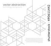 vector abstract boxes... | Shutterstock .eps vector #490611442