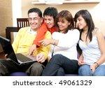 parents whit son look in... | Shutterstock . vector #49061329