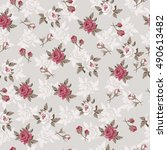 seamless vintage flower pattern  | Shutterstock .eps vector #490613482