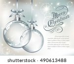 greeting card with vector... | Shutterstock .eps vector #490613488