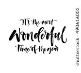 it's the most wonderful time of ... | Shutterstock .eps vector #490616002