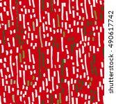 christmas brushstrokes pattern | Shutterstock .eps vector #490617742