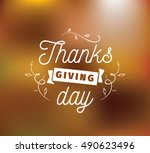 thanksgiving day typographic... | Shutterstock .eps vector #490623496
