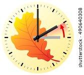 vector illustration of a clock... | Shutterstock .eps vector #490640308
