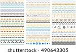 ribbons  borders  dividers ... | Shutterstock .eps vector #490643305