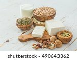 selection vegan protein sources ... | Shutterstock . vector #490643362