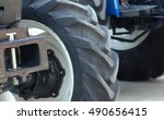 picture o a new big tires on... | Shutterstock . vector #490656415