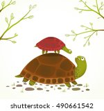 Turtle Mother And Baby Childis...