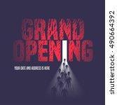 grand opening vector... | Shutterstock .eps vector #490664392