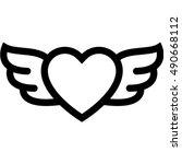 heart wings icon | Shutterstock .eps vector #490668112