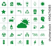 ecology icon set | Shutterstock .eps vector #490674085
