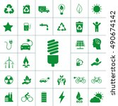 ecology icon set | Shutterstock .eps vector #490674142