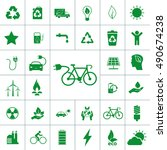 ecology icon set | Shutterstock .eps vector #490674238