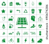 ecology icon set | Shutterstock .eps vector #490674286