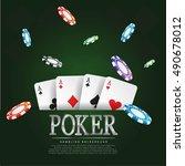 vector illustration on a casino ... | Shutterstock .eps vector #490678012