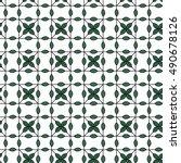 seamless pattern plant. vector | Shutterstock .eps vector #490678126