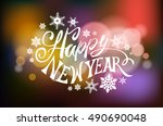 vector illustration christmas... | Shutterstock .eps vector #490690048
