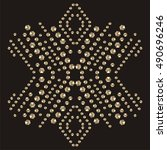 snowflake rhinestone applique...   Shutterstock .eps vector #490696246