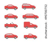 different types of cars vector... | Shutterstock .eps vector #490700752